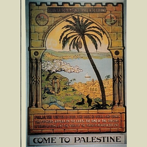 """Come to Palestine"" Poster from 1928 (JP-117)"