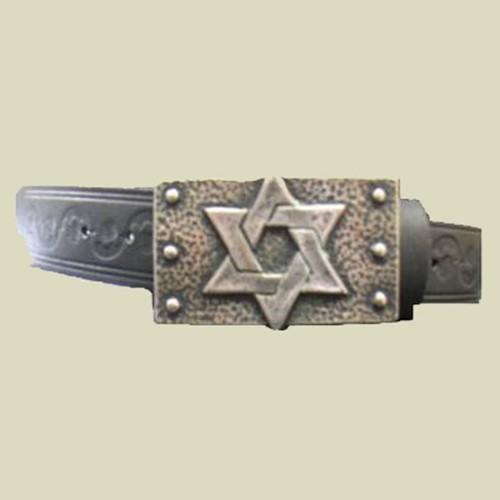 Belt with Magen David Silver buckle (belt-1)