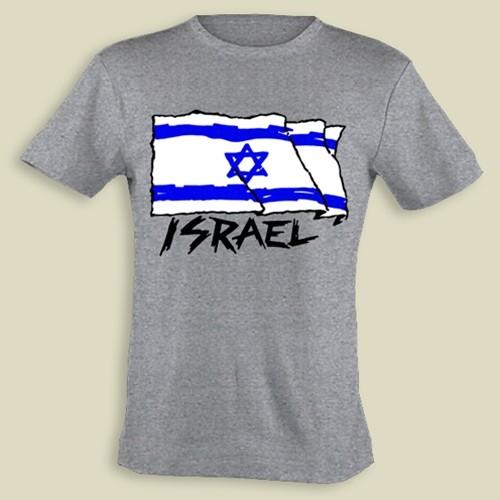 Israel Flag-Wind- kid T-shirt (KT-37)