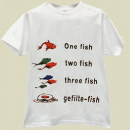 ONE FISH-GEFILTE FISH T-SHIRT (T-222)
