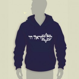 Am Israel Chai Hooded Sweatshirt (HS-81)