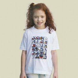 Children's Alef-Bet T-shirt (KT-02)