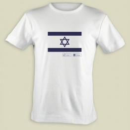 "Israel Flag Facebook ""Like"" T-shirt (T-254)"