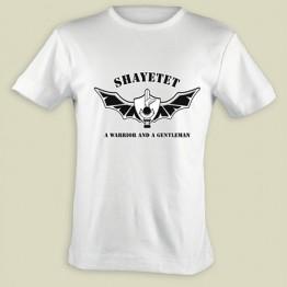 """Shayetet """"A Warrior & a Gentleman"""" T-shirt - White (T-253-W)"""