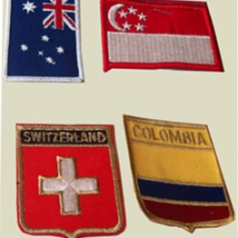 Flags Iron-On Patches-Selection No. 3+4 (AEP-14)