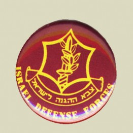Israel IDF Army Tzahal military Red Metal Pin Tag (sika-1)