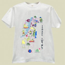 Israel Map T-shirt (T-69)